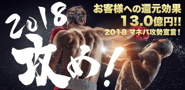 お客様への還元効果12.1億円!! マネパ攻勢宣言!